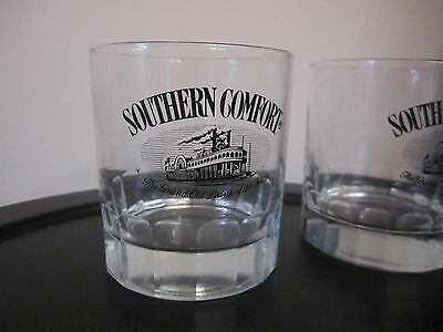 Southern Comfort Black Riverboat The Grand Old Drink of the South ROCK2 Glasses