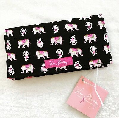 Vera Bradley Checkbook Cover Pink Elephants