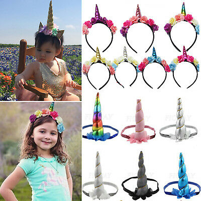 Decorative Magical Unicorn Horn Head Party Hairs Headband Fancy Dress Costume