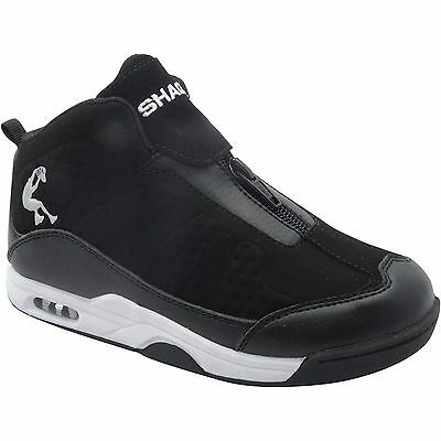 Shaq Youth Boy's Black Zip-up Athletic Shoes Size 12, 13, 2, 3, 5, 6 NWT