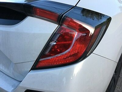 2017 Honda Civic Hatchback Tail Light Signal PreCut Red Tint Overlays