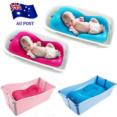 Baby Bath Tub Pillow Pad Air Cushion Floating Soft Seat Infant Newborn EA