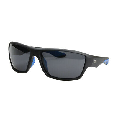 NEW Striker SS1 Sunglasses - BLACK/BLUE WITH SMOKE LENS