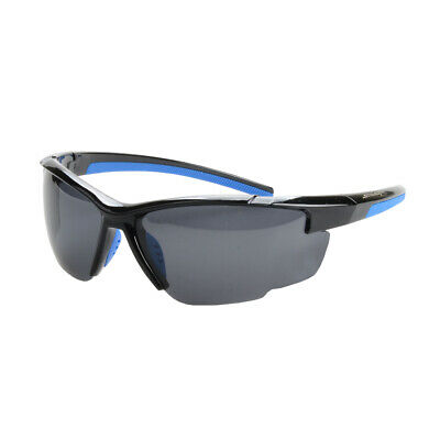NEW Striker SS2 Sunglasses - BLACK/BLUE WITH SMOKE LENS