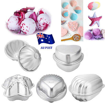 2pcs Aluminum Bath Bomb Molds Cake Pan Baking Pastry Moulds DIY Crafting Gifts E