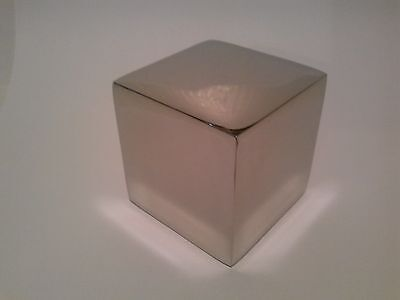 STAINLESS STEEL CUBE MINIMALIST SCULPTURE (also available in BRASS)