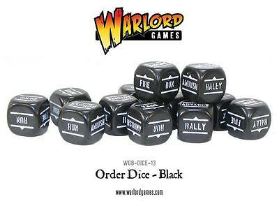 Warlord Games Bolt Action - ORDER DICE PACK - BLACK - WGB-DICE-13