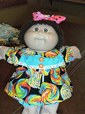 "16"" Cabbage Patch 3 Pc Doll Clothes~LOLLIPOPS/SUCKERS Dress/Panties/Hair Bow"