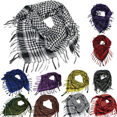 Lightweight Womens Mens Arab Scarves Shemagh Keffiyeh Palestine Neck Scarf Shawl