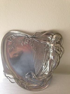 Art Nouveau Wmf Silver Plated Pewter Tray