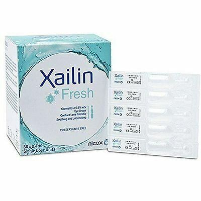 Xailin Fresh Dry Eye Drops - 30 Per Box Vials 1 2 3 6 12 Packs