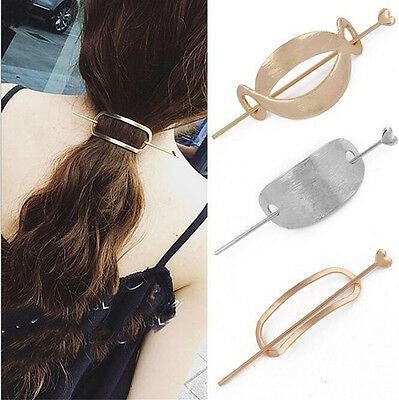 Womens Girls Unique Vintage Hair Clasp Clips Hairpin Stick Updo Hair Accessories