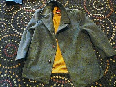 1970-80's  SACKVILLE WINDBREAKER LUMBER JACKET PURE WOOL GOLD LINING AUSTRALIA