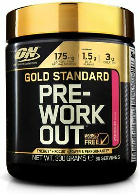 Optimum Nutrition Gold Standard Pre Workout 30 Servings - All Flavours 330g Tub