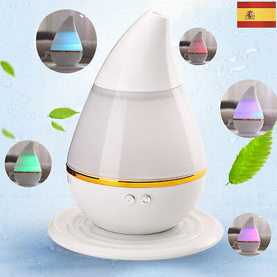 7 Color LED 200ml Ultrasónico Aire Humidificador Purificador Aroma Aromaterapia