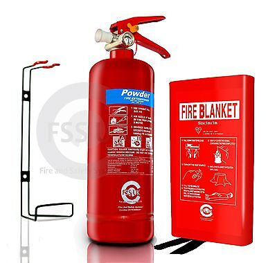 Bs Kitemarked 2Kg Powder Fire Extinguisher With Fire Blanket Boat Safety Work