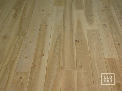 Solid Asch Hardwood Flooring Board Rustic 20x140 x 500-2000mm unfinished Wood
