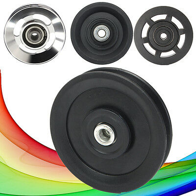 Pulley Wheel Bearing Cable Equipment Sports Fitness Gym Aluminum/Nylon Universal