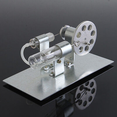 Mini Sterling Engine Model Miniature Steam Toy Hot Air Physics Educational Tool