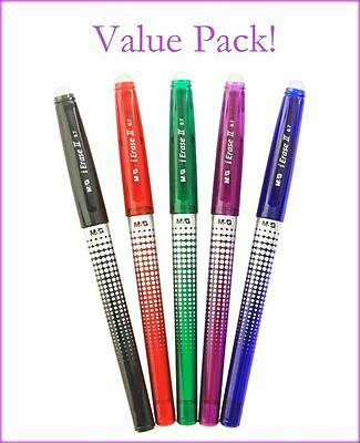 M&G iErase Friction & Heat Erasable Pens Assorted Colours, Bulk Discount