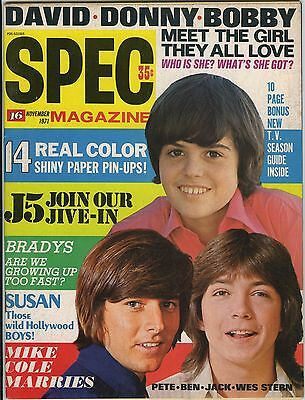SPEC 16 Magazine November 1971 - Osmonds David Cassidy Brady Bunch Mike Cole J5
