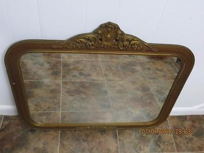 "Antique Wall Mirror With Wood Frame 29"" X 24"""