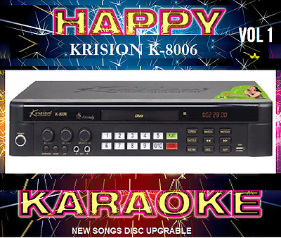 New* 20000 English Tagalog Songs Karaoke MiDi DVD Player UPGRADABLE* Disc VOL1