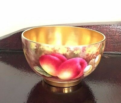 Royal Worcester Sugar Bowl Signed E Townsend