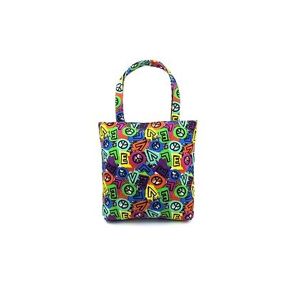 Style 222-PEACE Wholesale Mid Size Tote in a Cool Peace Print