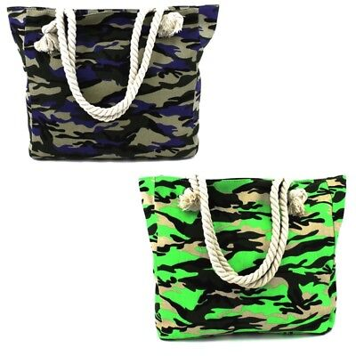 Style 1322-CAMO: CANVAS TOTE W/ROPE HANDLE (CAMOUFLAGE)