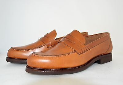 MAN-10eu-11us-PENNY LOAFER-MOCASSINO-LIGHT BROWN-LEATHER SOLE+RUBBER-CUOIO+GOMMA