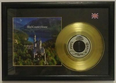 "Blur Framed Country House Gold 7"" Single With Picture Sleeve"