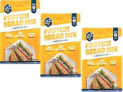 3 x 350g -THE PROTEIN BREAD CO. Protein Bread Mix -  6 Australian Seeds