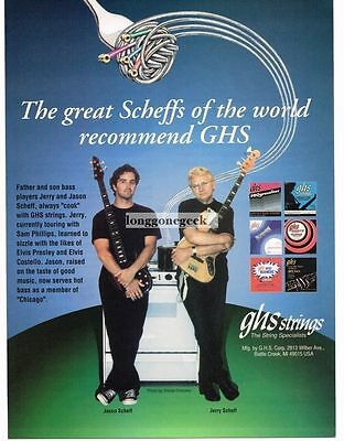 1994 GHS Guitar Strings Jerry Jason Scheff Magazine Ad