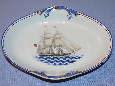 Mottahedeh Our Maritime Heritage ship Yorkshire sailing trinket dish nautical