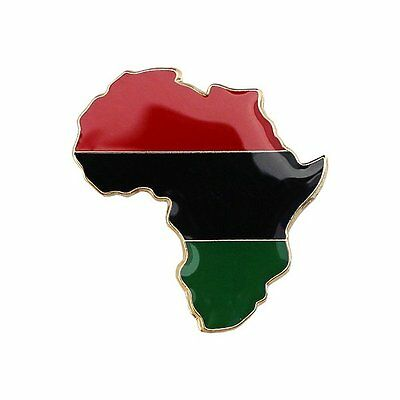 Flagline African American Cutout (Continent) Flag Lapel Pin