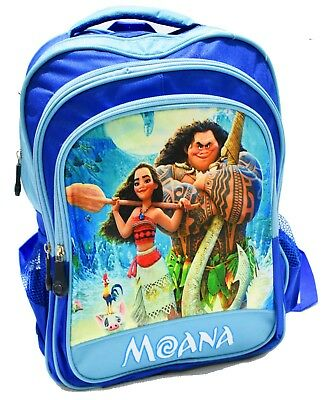 New Large Backpack Kids Disney Moana Maui Girls School Picnic Gifts Travel Bags