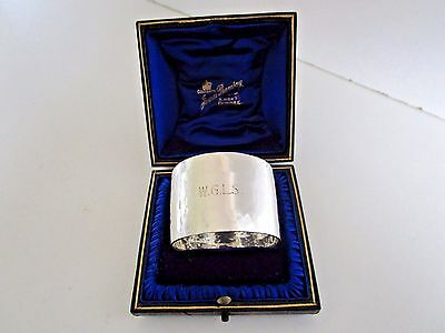 Cased Large Sterling Silver Napkin Ring..Sheffield 1938..Quality..
