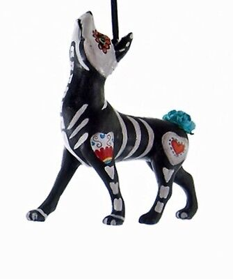 katherine's collection Halloween skeleton Day of the Dead dog ornament