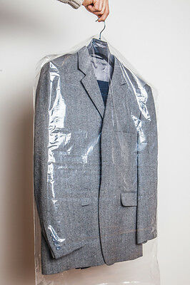 Clear Plastic Polythene Garment Suit Dress Clothes Dry Cleaners' Laundry Cover