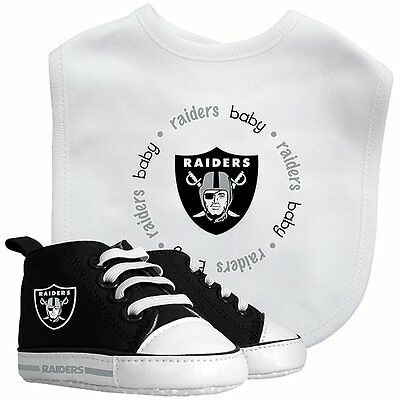Baby Fanatic Oakland Raiders NFL Infant Bib and Shoe Gift Set