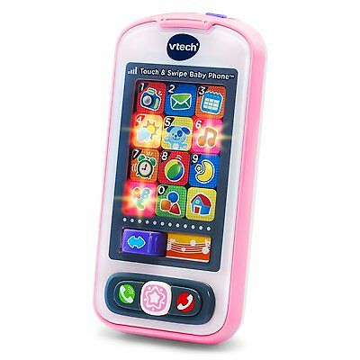 Touch And Swipe Screen Baby Phone Blue Toddler Educational Kids Toys Vtech New
