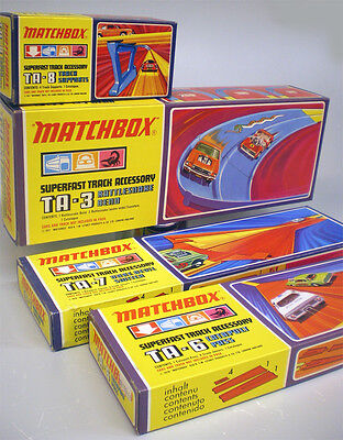 4x Matchbox TA-3 6 7 8 RattlesnakeBend DareDevil Switch SUPERFAST NEU OVP MIB