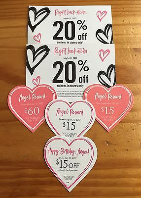 Victoria's Secret Pink VS Angel Reward Happy Birthday 20% Off Coupon + Gift Card