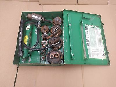 """Greenlee 7310 1/2"""" - 4"""" Hydraulic Knockout Punch Driver Set - Free Shipping!"""
