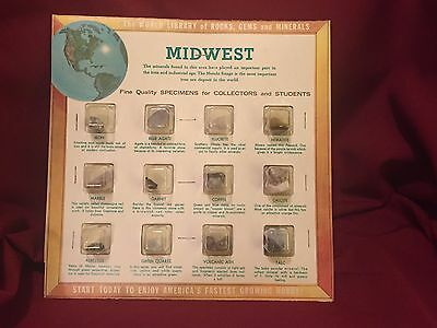 Minerals - Lot of 5 Vintage (1964) Educational Mineral Collections