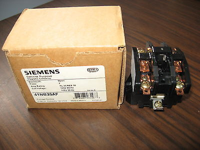 New Siemens 41NB20AF Definite Purpose Contactor With 120V Coil (2 Pole, 25 Amp)