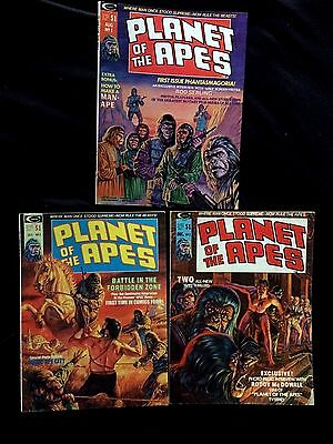 PLANET OF THE APES Numbers.1, 2 & 3   1974