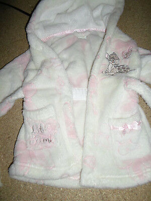 Baby Girls 9-12 Months Disney Dressing Gown - Excellent Condition