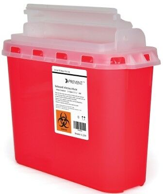 *NEW! Prevent Sharps Container, 2-Piece, 5.4 Quart, Horizontal Entry Lid 1 Count
